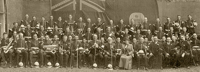 Regimental Band of The Thirteenth Royal Regiment May 1913